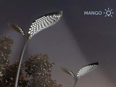 Alumbrado público Mango usa energía solar y agua de lluvia
