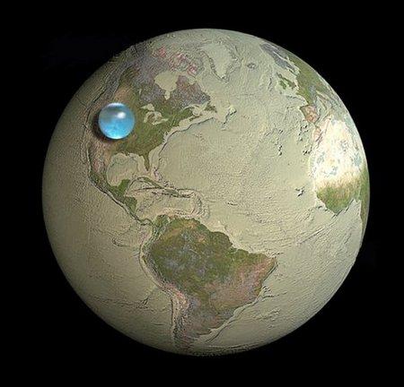 Así se vería la Tierra sin agua