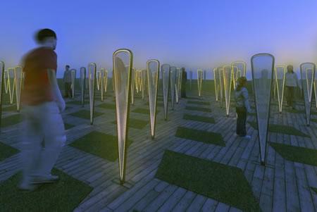 Árboles artificiales que generan electricidad y juntan agua de lluvia