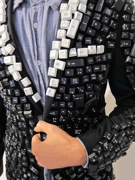 Una chaqueta llena de teclas