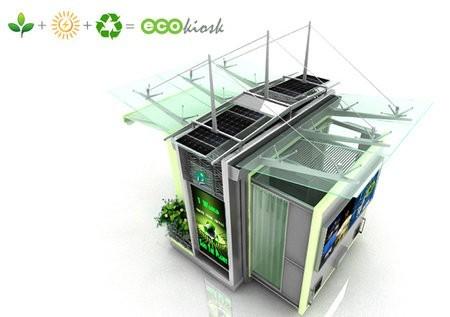 Admira este kiosco ecológico