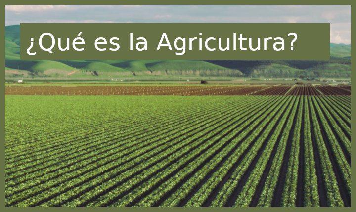 qué es la agricultura