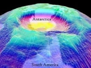 agujero de la Antártida