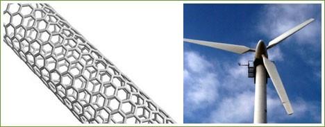 Nuevos nanotubos de carbono mejorarán las turbinas eólicas