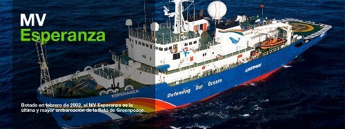 Los barcos de Greenpeace