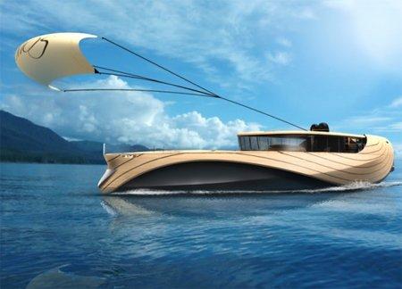 Cronos, un yate eléctrico hecho con bambú y que usa energía solar y eólica