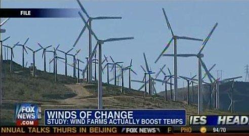 Granjas eólicas contribuyen al calentamiento global
