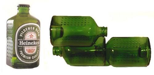 WOBO Heineken, la botella-ladrillo