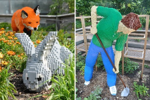 Animales gigantes hechos de bloques Lego4