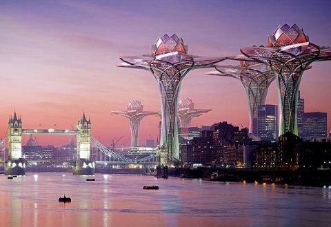 City in the Sky, edificios futurísticos con forma de flor ubicados en las alturas
