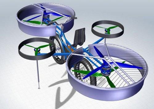 FBike, una mezcla de helicóptero y bicicleta