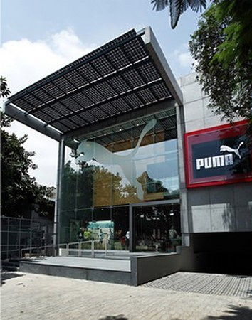 Puma abre una tienda ecológica en India