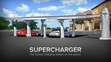 Tesla revela seis estaciones Supercharger en Estados Unidos