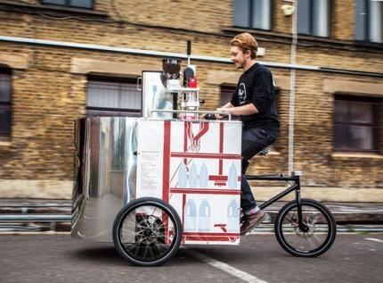 Velopresso, un interesante carrito de café que funciona a pedal