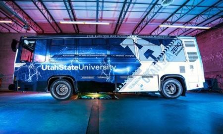 Aggie Bus, autobús eléctrico de carga inalámbrica