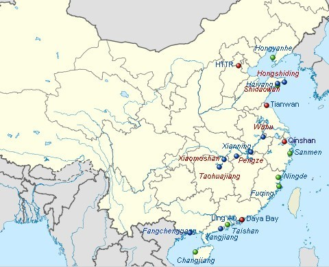 Centrales Nucleares en China