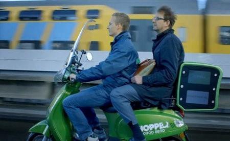 Hopper, las geniales motocicletas scooter eléctricas que funcionan como taxis en Amsterdam