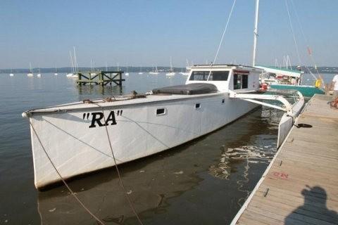 Este barco navegará por Estados Unidos usando energía solar