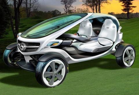 Carro de golf ecológico y de alta tecnología