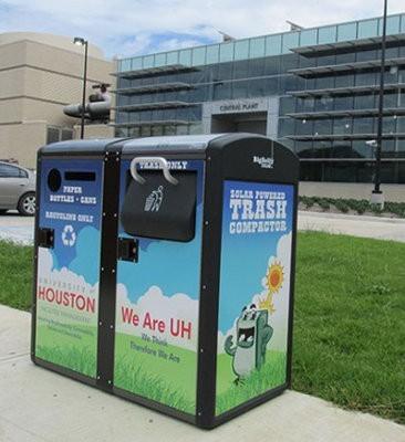 Estos son los contenedores de basura de la Universidad de Houston