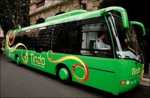 Tindo es el primer autobus 100 solar