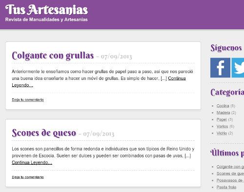 TusArtesanias.com: Revista de Manualidades y Artesanías