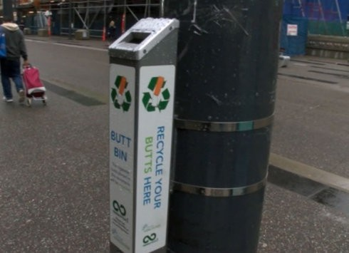 Vancouver estrena un programa de reciclaje de colillas de cigarrillos