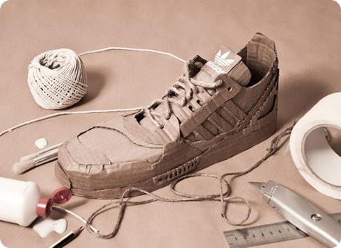 Adidas presenta sus zapatos reciclados a partir de cartón
