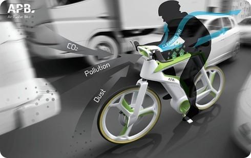 Esta bicicleta conceptual es capaz de purificar el aire