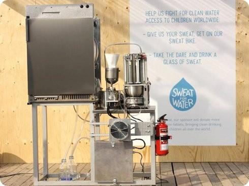 Esta máquina transforma el sudor en agua potable