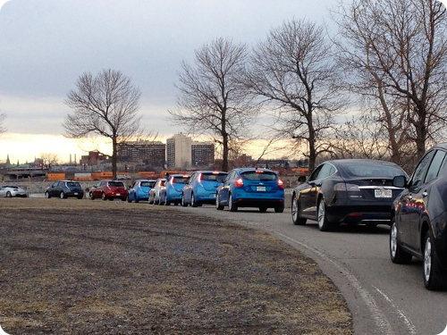 El mayor desfile de vehículos eléctricos del mundo