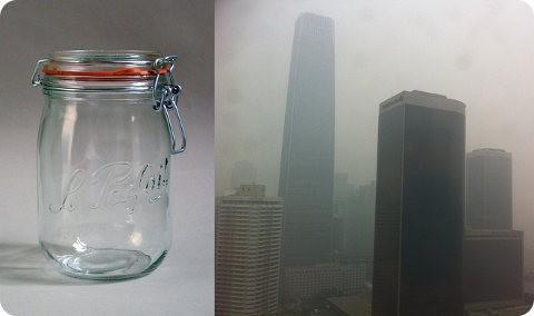 En Beijing se ha vendido un frasco con aire de Francia