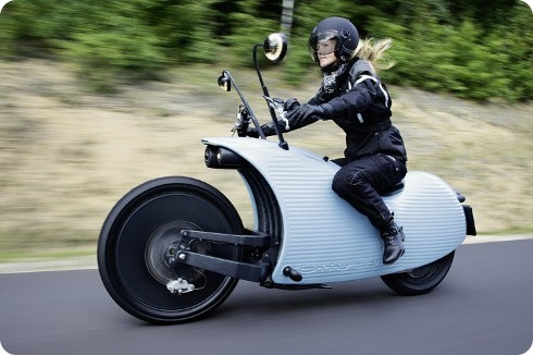 Esta moto eléctrica puede recorrer 200km con una sola carga