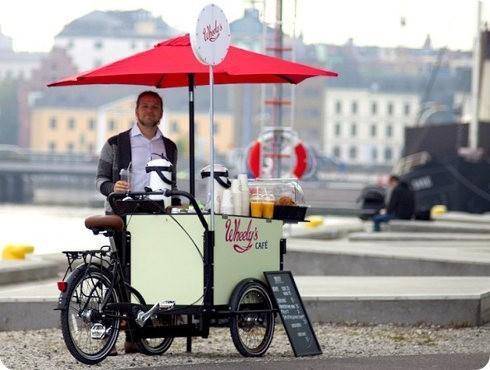 Mira este carro de café que usa energía solar