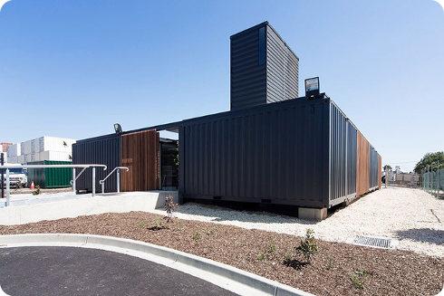 Una compañía de contenedores crea sus oficinas partir de contenedores