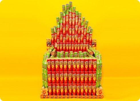 Increíble órgano hecho con latas de Pringles