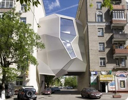 Parasite Office: las oficinas que pueden ser colocadas entre edificios