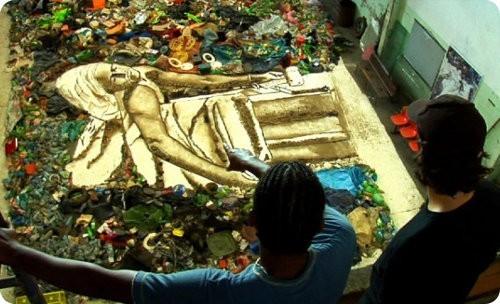 Basura es transformada en obras de arte
