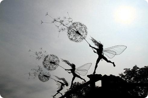 Geniales esculturas hechas con cables metálicos2