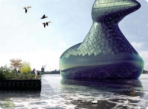 Mira este generador gigante con forma de pato