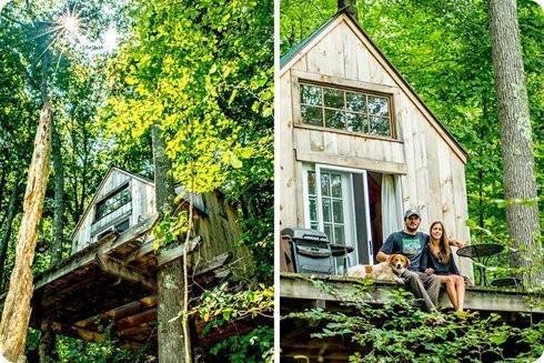 Pequeña cabaña de bosque de 4000 dólares es construida en solo 6 semanas