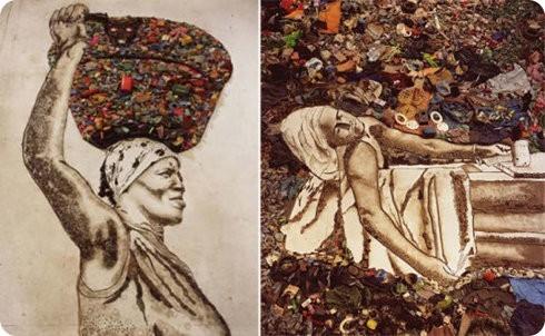 Vik Muniz transforma basura en obras de arte