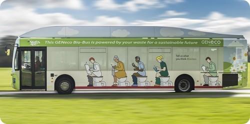 Este autobús usa desperdicios de comida y excremento para funcionar