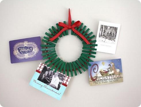 Arreglos de Navidad para colgar en puertas