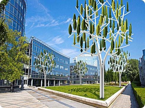 Ingenieros desarrollan nuevas turbinas eólicas con forma de árbol