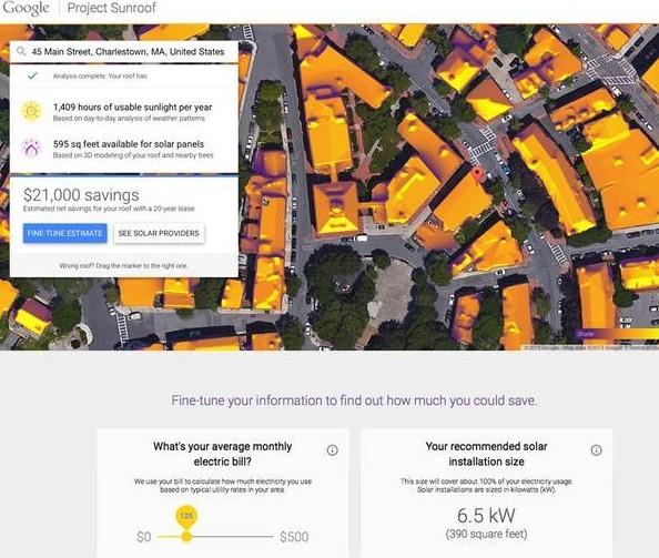 Google quiere ayudarte a poner paneles solares en tu techo
