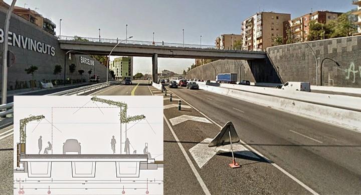 Puente Sarajevo, ubicado en Barcelona
