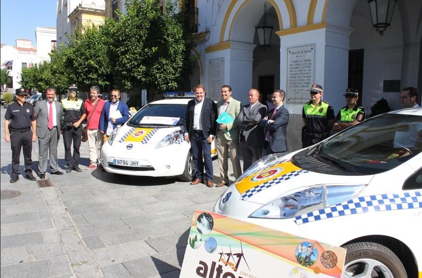 Vehículos eléctricos policiales en Mérida