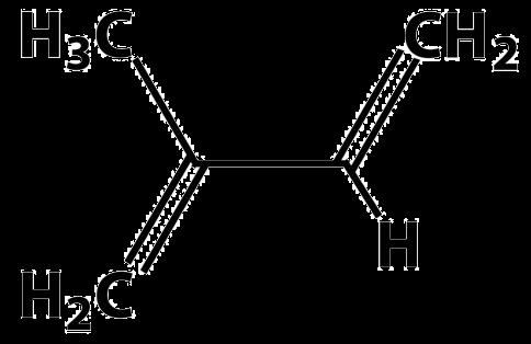 Composición química del isopreno