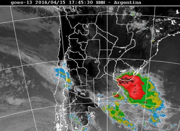 fenómeno tornado en Uruguay